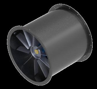 imagem de desenho técnico no exaustor axial industrial